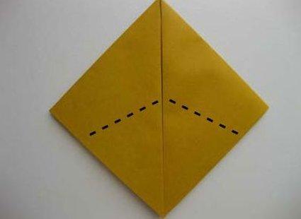 Kot origami krok 7