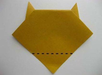 Kot origami krok 10