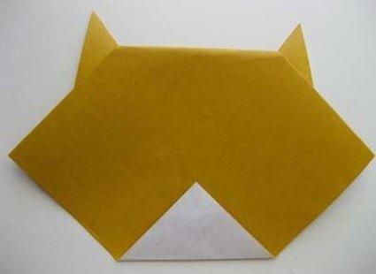 Kot origami krok 11