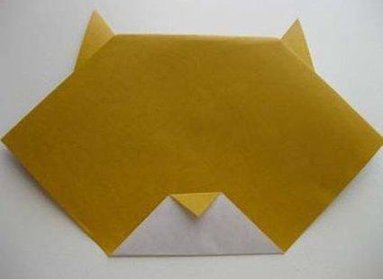 Kot origami krok 12