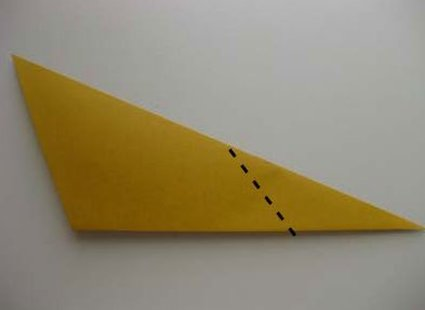 Kot origami krok 17