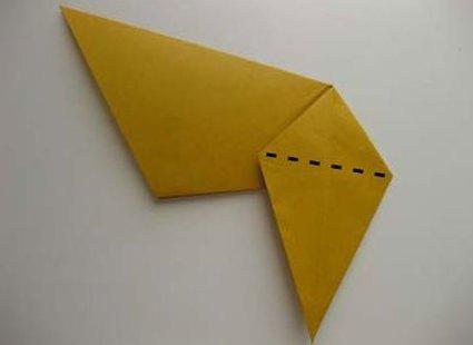 Kot origami krok 23