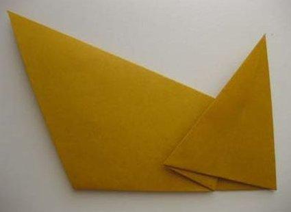 Kot origami krok 24