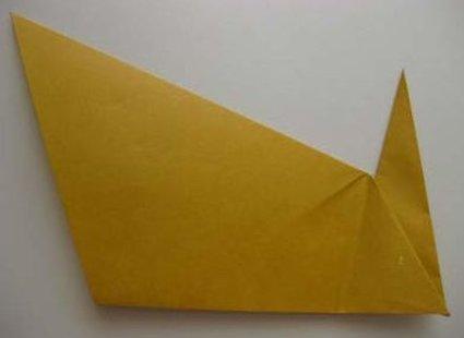 Kot origami krok 26