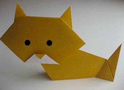 Kot origami krok 27