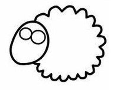 Rysowanie owieczki krok 2