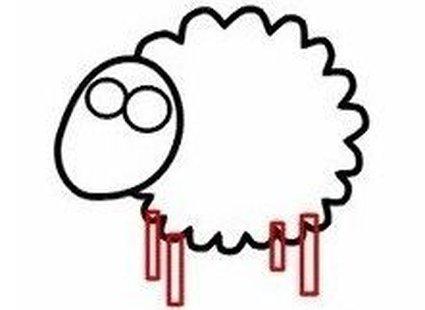 Rysowanie owieczki krok 3