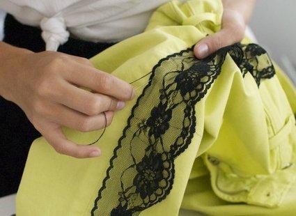Spodnie z koronką krok 4