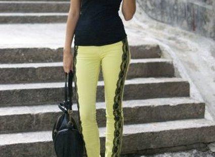spodnie z koronką