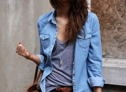 Jak nosić jeansową koszulę? porada Tipy.pl  eEX8G