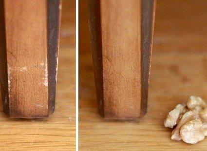 Rysy na drewnianych meblach