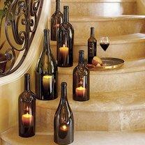 Świeczniki z butelki