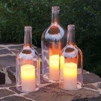 Butelki - dekoracje zrób to sam