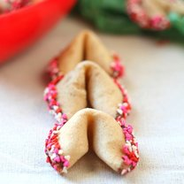 walentynkowe ciasteczka z wróżbą