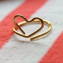pierścionek serce z drutu