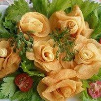 Frytki różyczki