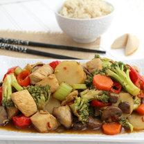 kurczak hunan z warzywami