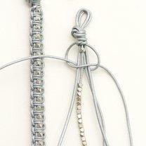 bransoletka makrama z rzemyków - krok 2
