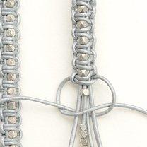 bransoletka makrama z rzemyków - krok 4