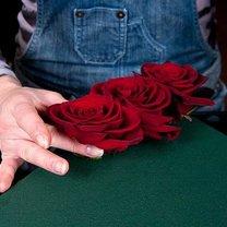 serce z róż i truskawek - krok 3