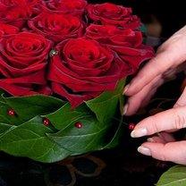 serce z róż i truskawek - krok 5