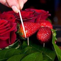 serce z róż i truskawek - krok 11