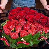 serce z róż i truskawek - krok 12