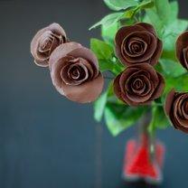 róże z czekolady