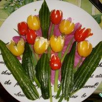 Tulipany z pomidorów 1