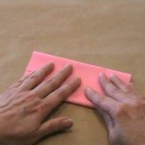 zajączek origami - krok 2