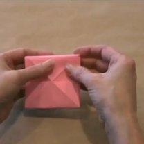 zajączek origami - krok 4