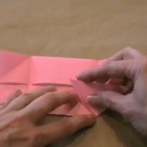 zajączek origami - krok 6