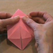 zajączek origami - krok 14