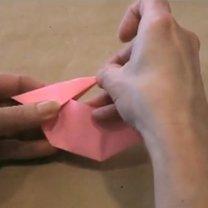 zajączek origami - krok 17