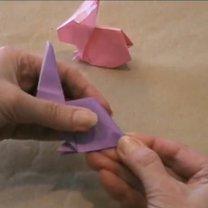 zajączek origami - krok 21