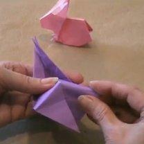zajączek origami - krok 22