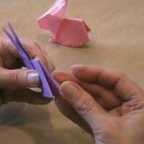 zajączek origami - krok 23