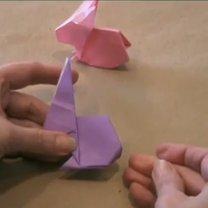 zajączek origami - krok 24