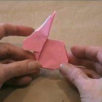 zajączek origami - krok 27
