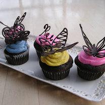Motyle z czekolady