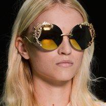 Okulary przeciwsłoneczne wiosna 2013 zdobione