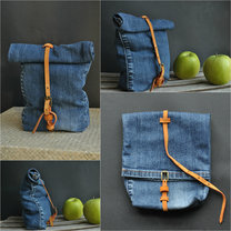 Torebka zrobiona ze spodni jeansowych