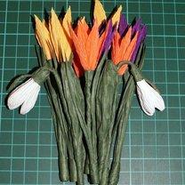 Wiosenne kwiaty z bibuły 6