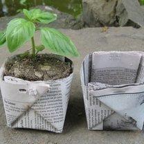Doniczki z papieru