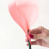 duży kwiat z papieru - krok 10