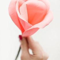duży kwiat z papieru - krok 11