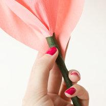 duży kwiat z papieru - krok 13