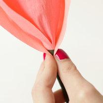 duży kwiat z papieru - krok 14