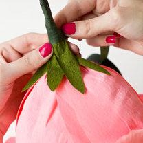 duży kwiat z papieru - krok 20