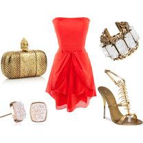 biżuteria do koralowej sukienki